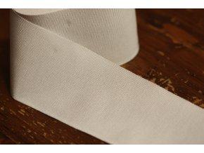 Bílá rypsová stuha, 70mm