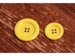 Neonově žlutý knoflík ve 2 velikostech
