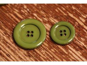 Zelený knoflík ve 2 velikostech