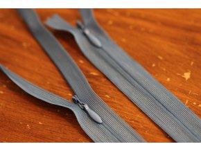 Skrytý zip v světle modré barvě, 20cm  35cm, 55cm