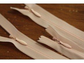 Skrytý zip v pudrové barvě, 20cm  35cm, 55cm