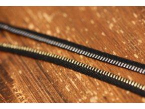 """Žakárová stuha """"zip"""", 7mm"""