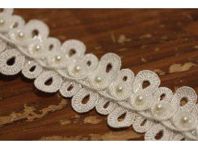Bílá plastická bordura a la Chanel