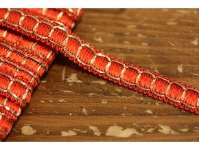 Červeno-zlatý prýmek ve stylu Chanel, 12mm