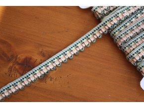 Klasický plastický prýmek v pastelových barvách