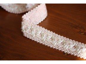 Růžový prýmek ve stylu Chanel, 22mm