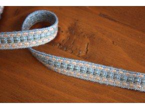 Světle modrý prýmek, 13mm