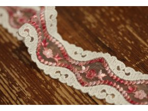 Růžová krajka,  design Gucci