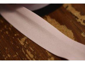 Růžový bavlněný šikmý proužek  25 mm