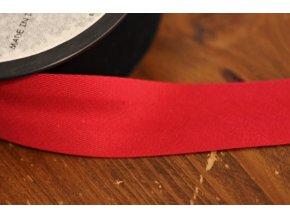 Tmavě červený bavlněný šikmý proužek 25 mm