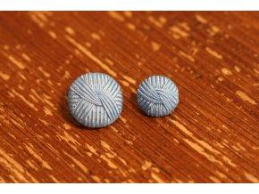 """Světle modrý knoflík """"vlna"""", 15mm a 23mm"""