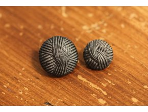 "Tmavě šedý knoflík ""vlna"" , 15mm a 23mm"