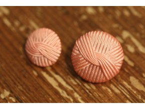 """Světle růžový knoflík """"vlna"""",  15mm a 23mm"""