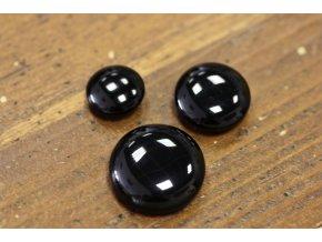 Černý kovový pogumovaný knoflík, design Balmain