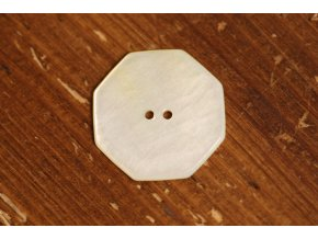 Osmihranný perleťový knoflík, 25,4mm