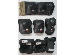 Sada chráničů Stuf Advanced černá /červená (velikost: L)