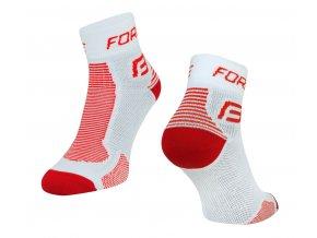 Ponožky Force 1, bílo červené 90101 (velikost: 42 - 47)