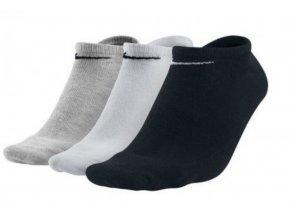 Nike LTWT No Show Value 3 kusy SX2554 901 černá/bílá/šedá (velikost: 35 - 38)