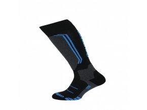 Juniorské lyžařské ponožky BLIZZARD Allround wool black/anthracite/blue (velikost ponožek 30-32)