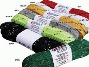 Tkaničky tempish hokejové voskované bílé (velikost míče 200)