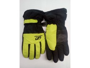 Juniorské rukavice Hannah Mojo JR Lime punch/anthracite (velikost: 11/12)