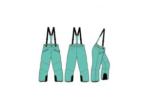 Dětské lyžařské kalhoty Alpine pro Aniko 2 KPAM122547 (velikost: 116-122)