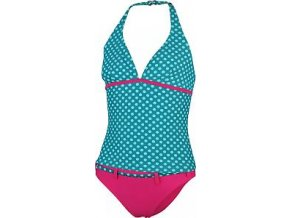 Dívčí plavky Stuf Tankini Curacao 2 puntíky /modrá