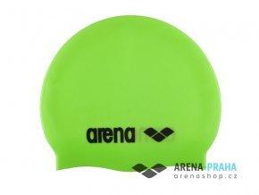 114389 plavecka cepice arena classic silicone cap 91662 65 zelena