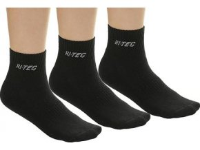 Juniorské Ponožky Hi-tec quarro pack black (velikost ponožek 28-32)