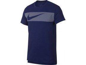 Pánské triko Nike Brt Top Ss Hpr Dry AJ8004 492 modrá (velikost L)