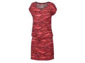 Dámské šaty Hannah Zanziba desert flower/beaujolais (velikost 34)