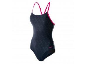 Dámské plavky aquawave Sublime WMNS black/raspberry sorbet (velikost L)