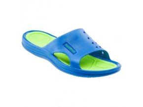 Juniorské pantofle Aquawave Nahin lake blue/lime (velikost obuvi 30)