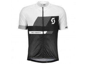 Pánské cyklistické tričko SCOTT RC TEAM 10 černá/bílá (velikost XXL)