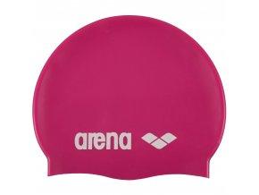 56396 plavecka cepice arena classic silicone cap 91662 91 ruzova