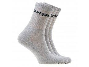 Ponožky Hitec chiro pack grey black (velikost: 36 - 39)