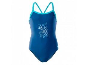 Dívčí plavky Aquawave Velanti Jr True navy /scuba blue (velikost 146)