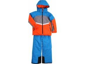 Dětský zimní set  STUF Luca modrá oranžová (velikost 110)