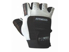Fitness rukavice Power spandex kůže NEW bílo černá (velikost L)