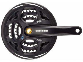 129743 kliky shimano altus fc m311 175mm 42x32x22 zubu cerne s krytem 7 8 speed pro osu 4hrv krabicce
