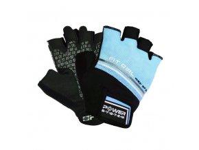 POWER SYSTEM Fitness rukavice FIT GIRL EVO modrá (velikost M)