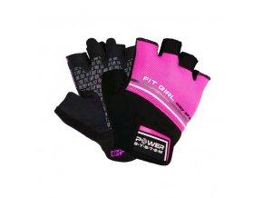 POWER SYSTEM Fitness rukavice FIT GIRL EVO růžová (velikost S)