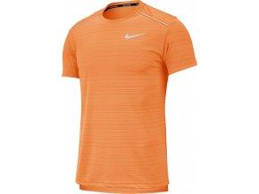 Nike DRY MILER TOP SS AJ7565 806 oranžová (velikost M)