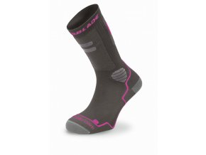 Rollerblade High Performance tmavě šedá tmavě růžová (velikost ponožek 39-42)