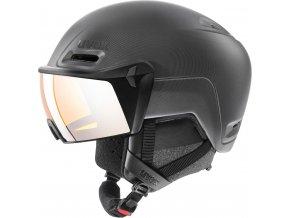Lyžařská helma Uvex Hlmt 700 visor - black mat (obvod hlavy v cm 59-61)