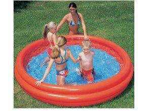 Bazén tříkomorový 152x30 cm p51026 (barvy červená)