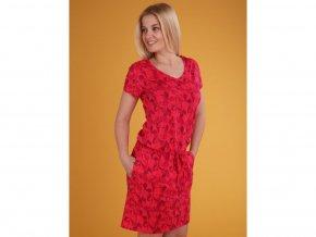 Loap BANYTA damské šaty růžová celopotis (velikost L)