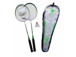 139541 badmintonovy set acra 2 palky kosicek pouzdro