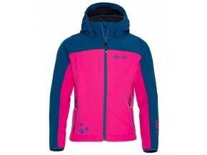 Kilpi Elia-j růžová pnk Dívčí softshellová bunda (velikost 110)