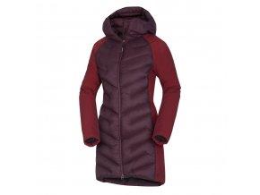 Northfinder Venila BU-4847 378 wine dámský kabát (velikost L)